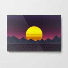 Vaporwave\\Mountain Metal Print