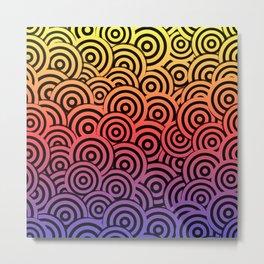 Bright Bullseye Pattern Metal Print