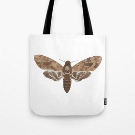 Death's Head Moth Hawkmoth Brown Insect Digital Watercolor Tote Bag