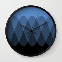 Light blue to Black Ombre Signal Wall Clock