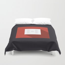 """Dice """"seven"""" with long shadow in new modern flat design Duvet Cover"""