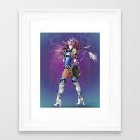 manga Framed Art Prints featuring Manga Unicorn by Illu-Pic-A.T.Art