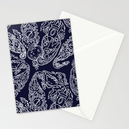 Cosmic Paisley Navy Blue Stationery Cards