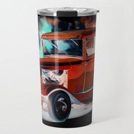 Red Street Rod By Annie Zeno  Travel Mug
