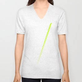 A Stripe of Green Unisex V-Neck