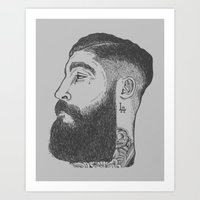 la Art Prints featuring LA by TRUJI