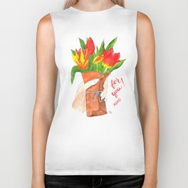 Handful of Tulips Biker Tank