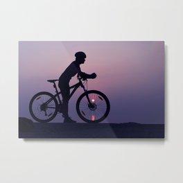 The cyclist Metal Print
