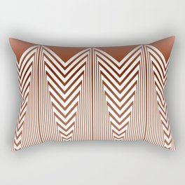 Art Deco Geometric Arrowhead Dusty Peach Design Rectangular Pillow