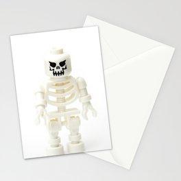 Scary white skeleton Minifig Stationery Cards