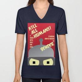 Kill All Humans Unisex V-Neck