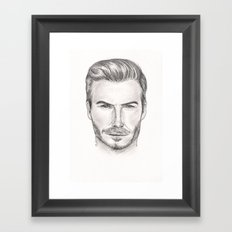David Beckham Framed Art Print