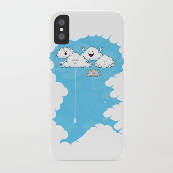 Young Clouds fooling around iPhone Case