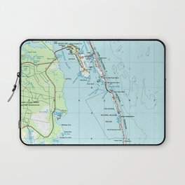 Vintage Southern Outer Banks Map (1957) Laptop Sleeve
