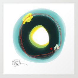 Abstract number 45D Art Print
