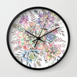 Watercolor Succulent #56 Wall Clock