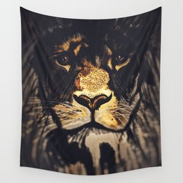 Noble Lion Wall Tapestry