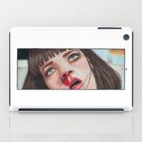mia wallace iPad Cases featuring Mia Wallace by Tariana B.