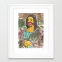 mona lisa Framed Art Prints featuring Mona Lisa by GOONS