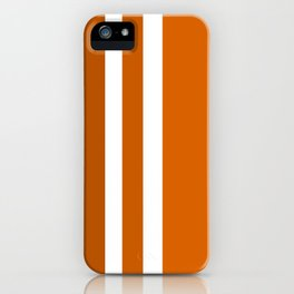 Striped Ombre in Orange iPhone Case