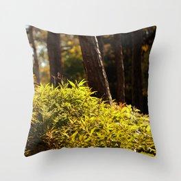 Yellow Green Throw Pillow