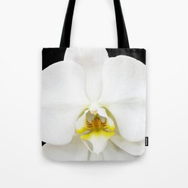 In Black And White Orchid Tote Bag