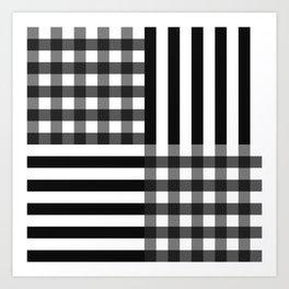 monochrome pattern  Art Print