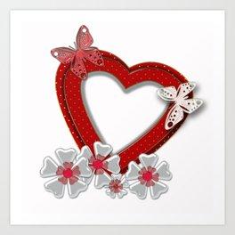 Love is like butterfly Art Print