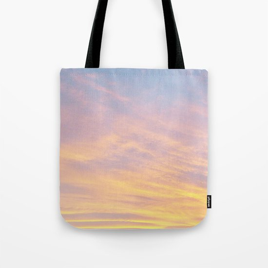 Blue Rose Yellow Sunrise Tote Bag