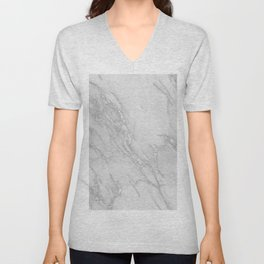 Marble Love Silver Metallic Unisex V-Neck