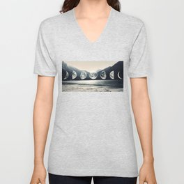 Moonlight Mountains Unisex V-Neck