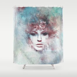 Girl face painting ART Shower Curtain