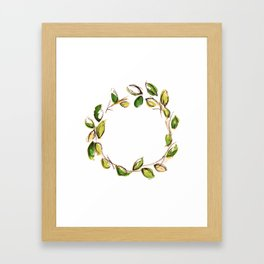 Leaf Wreath Framed Art Print