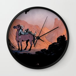 Reading Cowboy Wall Clock