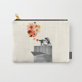 in bloom (black & white) Carry-All Pouch
