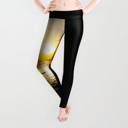 Seashore Serenity at Sunset Leggings