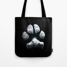 Dog Paw Print Pop Art Animal Lovers - South Paw Tote Bag
