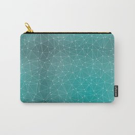 Triangulated Marrs Green Dotted Pattern Carry-All Pouch