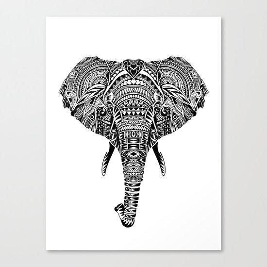Polynesian Elephant Canvas Print