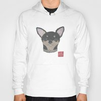 chihuahua Hoodies featuring CHIHUAHUA by Bless Hue
