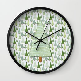 Pine Collage Wall Clock
