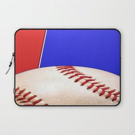 Baseball Sports on Blue and Red Laptop Sleeve
