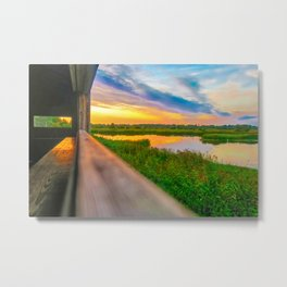 Sunset at The Fens, Norfolk, U.K Metal Print