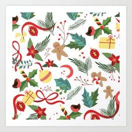 Christmas Pattern 2 Art Print