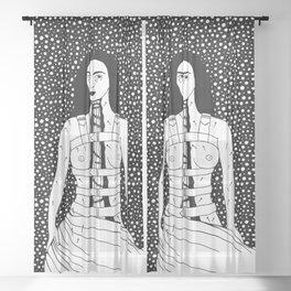 Frida Kahlo - Broken Column Sheer Curtain