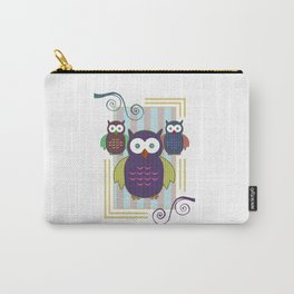Striped Owls Carry-All Pouch
