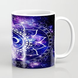 om mandala: purple blue space Coffee Mug