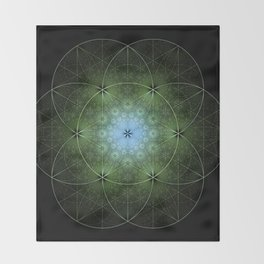 Seed Inversion 2 Throw Blanket