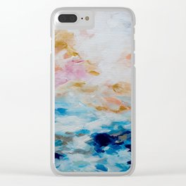 Golden Sunrise Clear iPhone Case