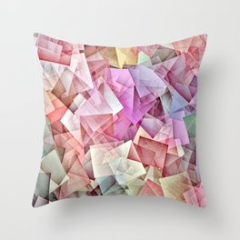 Geometric Stacks Pastel Throw Pillow